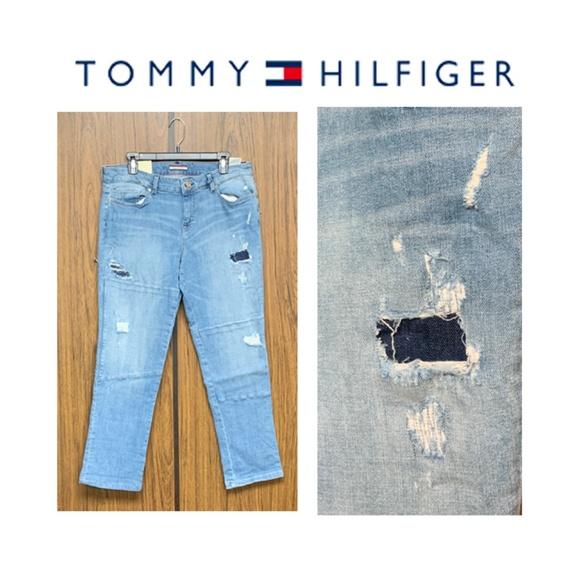 Tommy Hilfiger Denim - NWT Tommy Hilfiger Distressed Boyfriend Jeans Moto